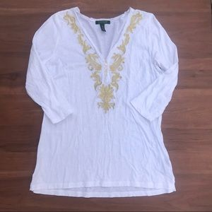 Ralph Lauren Tunic with Gold Detail NWOT
